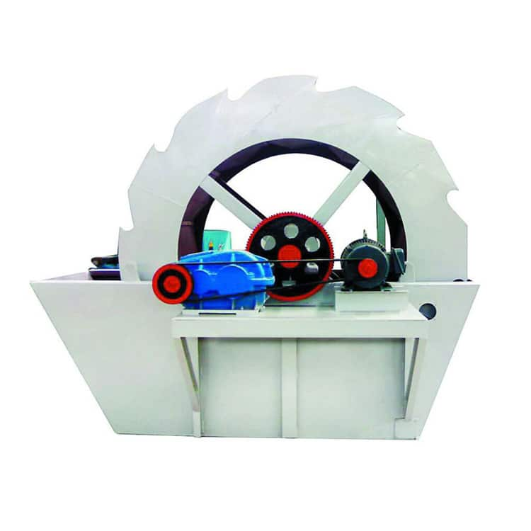Wheel sand washing machine