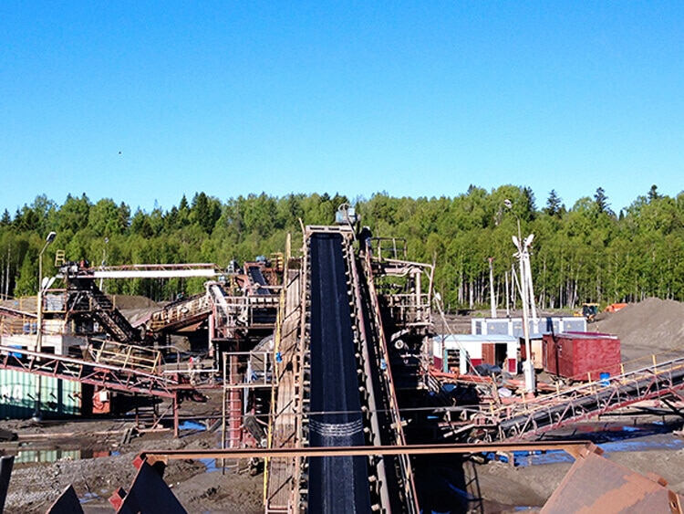 belt conveyor plant