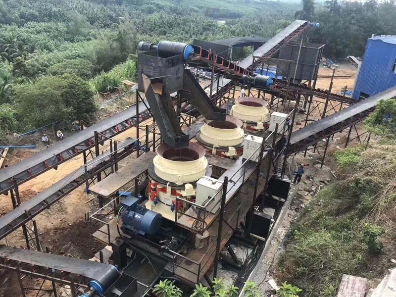 usine de broyeur de cône hydraulique multi cylindre 350tph