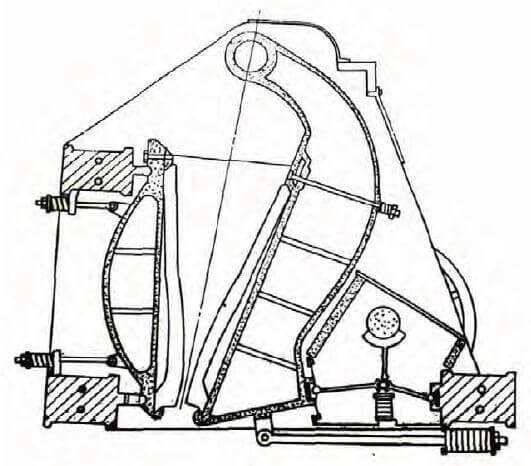 single toggle jaw crusher diagram
