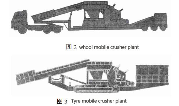 wheel and tyer mobile crusher plant