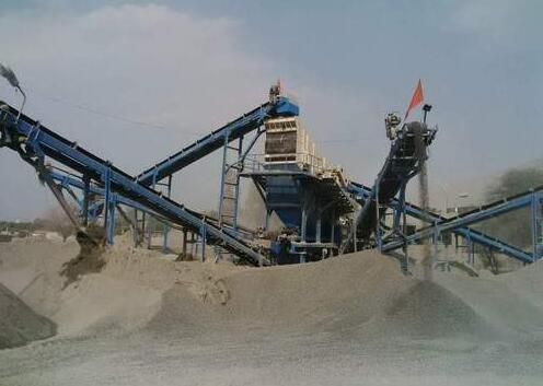 Quartzite crusher plant