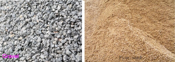 crushed sand