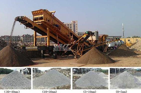 mobile jaw stone crushing plant
