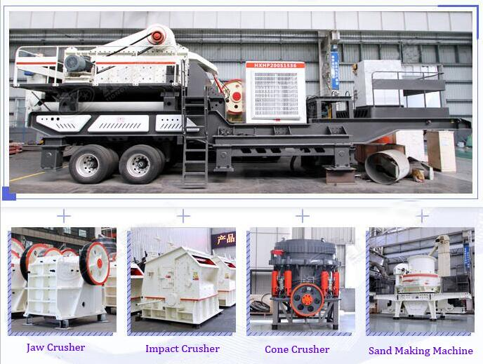 mobile stone crusher station