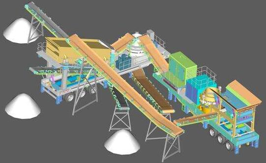 track-laying stone crusher plant layout
