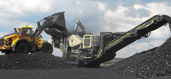 coal gangue mobile crushing and screening plant
