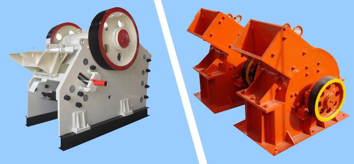 jaw crusher vs hammer crusher